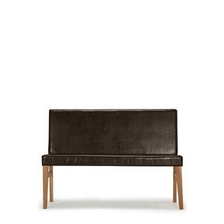Leather bench with back 1