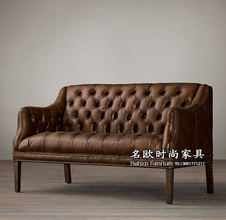 Cushioned Bench with Back Wood Frame Living Room Sofa Couch Faux Leather Brown