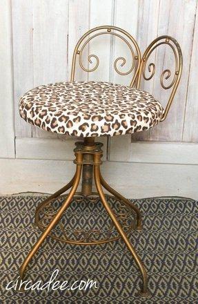 Leopard vanity stool. Leopard Vanity Stool. Animal print vanity chair 61a54dc3a