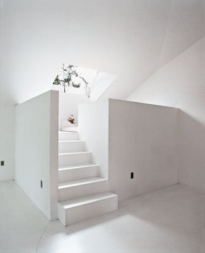 White Loft Bed With Stairs Foter