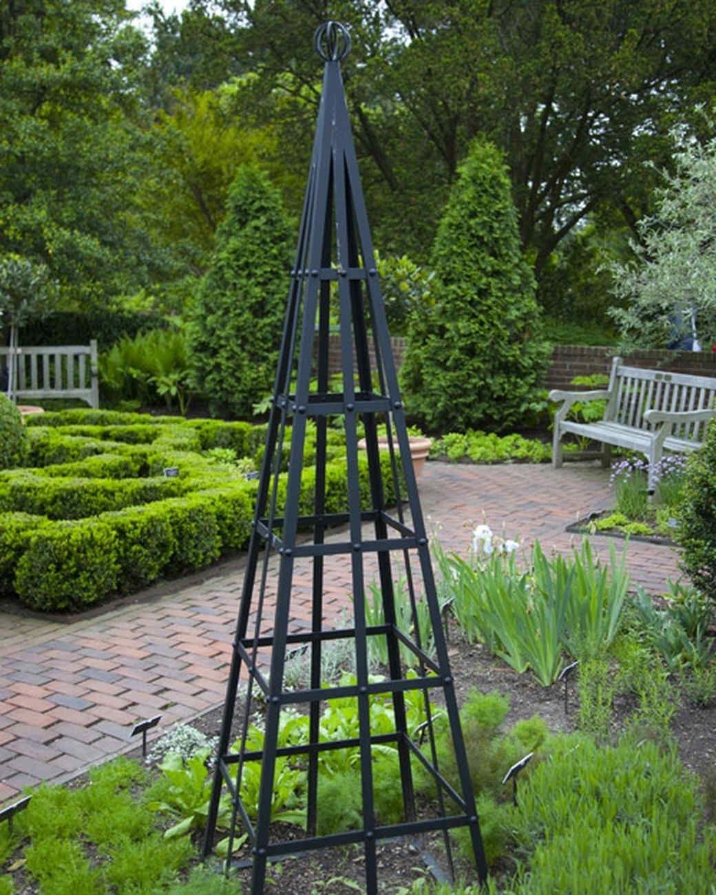 Captivating Metal Obelisk Trellis