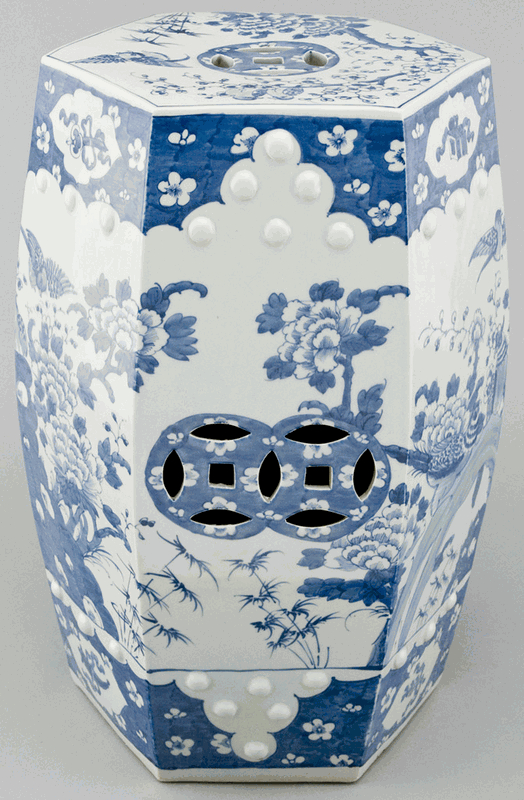 Bon Ms1002y Porcelain Chinese Garden Stools