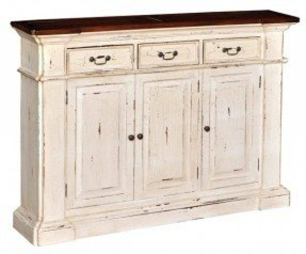 Sideboard Buffet Cabinet Console Rustic Vintage Credenza Large Cherry Finish