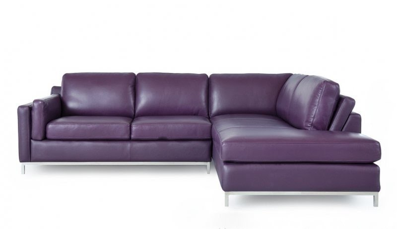 Charmant Plum Leather Sofa. Purple Leather Sectional 13