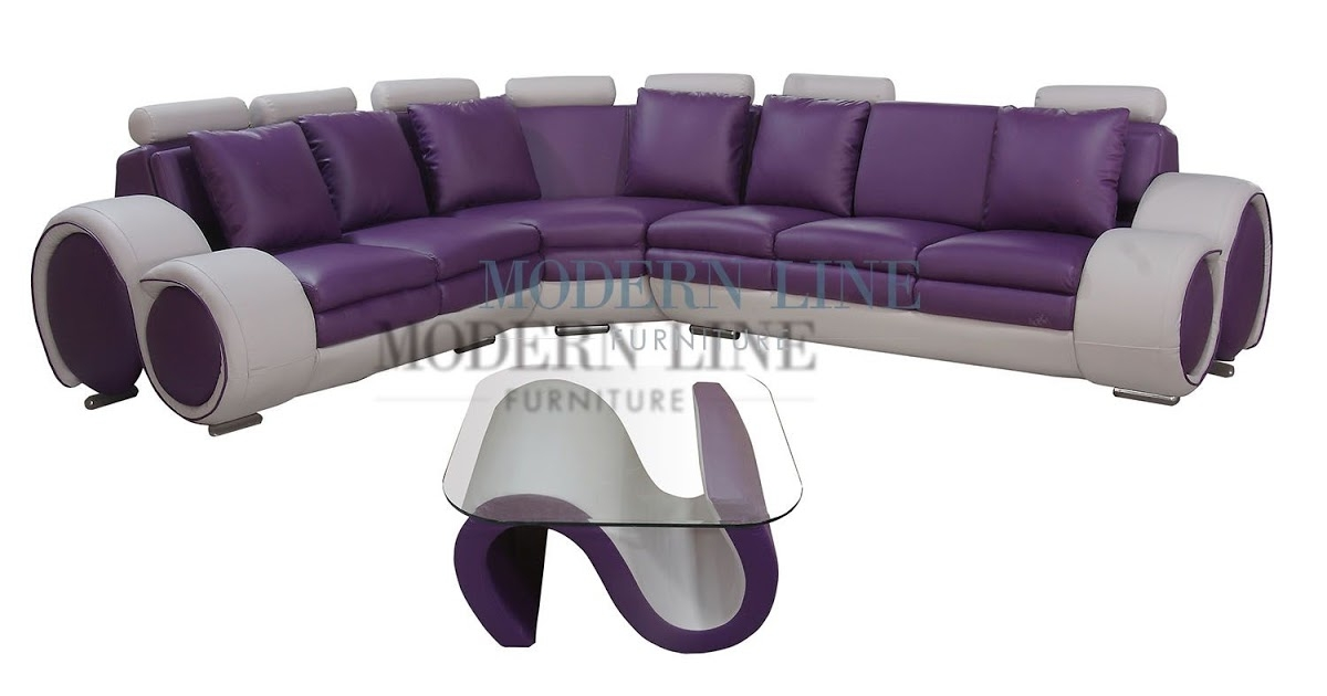 Plum sectional sofa