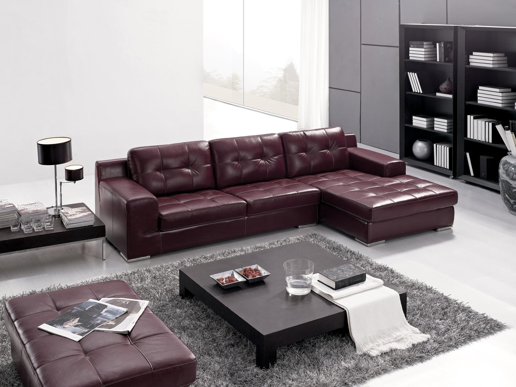 Purple And Grey Sofa