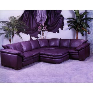 Purple Leather Furniture