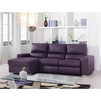 Purple leather recliner