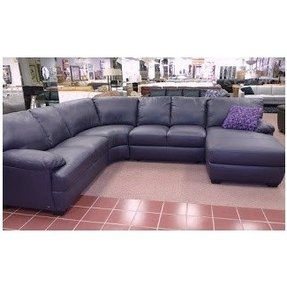 Purple leather sectional 1