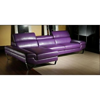 Purple Leather Sectional 2
