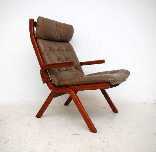 Retro Danish Rosewood Folding Armchair Vintage 1970s