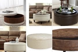 Genial Round Storage Ottoman Coffee Table   Ideas On Foter