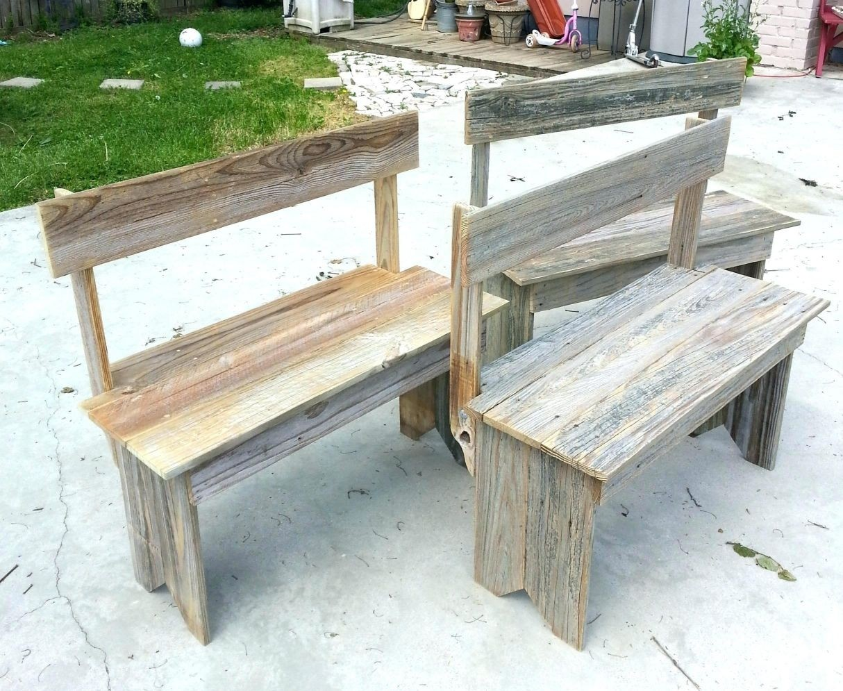 Rustic bench with back rest