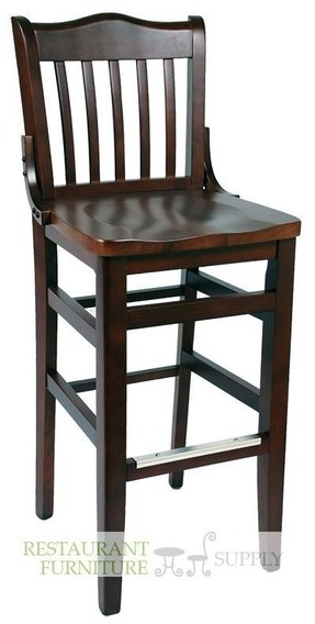 Schoolhouse wood bar stool