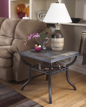 Slate top end tables 4