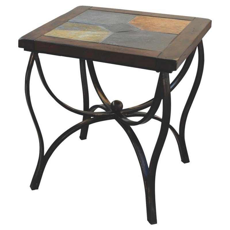 Ordinaire Slate Top End Tables 5