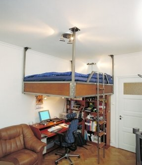 Sleep and study loft bed plans