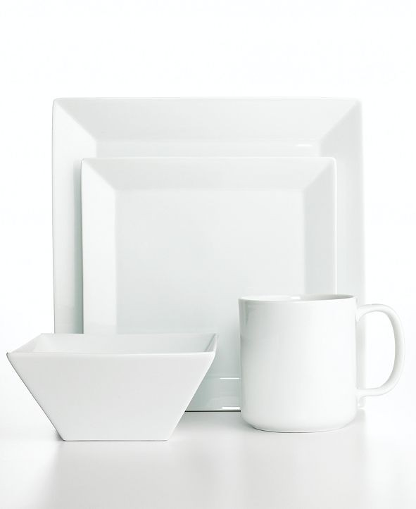 Square Dinnerware Set For 4 Foter  sc 1 st  ICE-UFT & Simple Dining Dinnerware - Dining room ideas