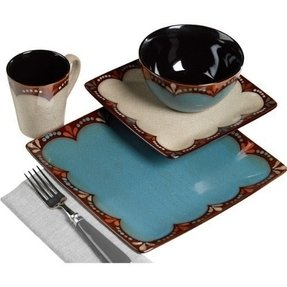 Square dinnerware set for 4 30