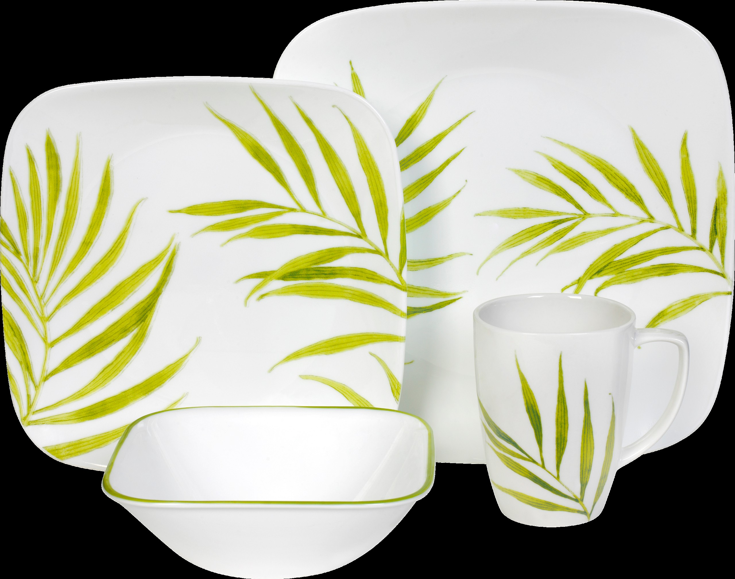 Square dinnerware set for 4  sc 1 st  Foter : green square dinnerware sets - pezcame.com