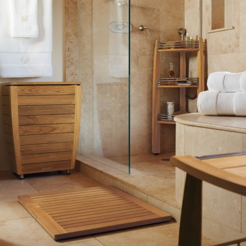 Exceptionnel Teak Corner Shower Caddy Foter