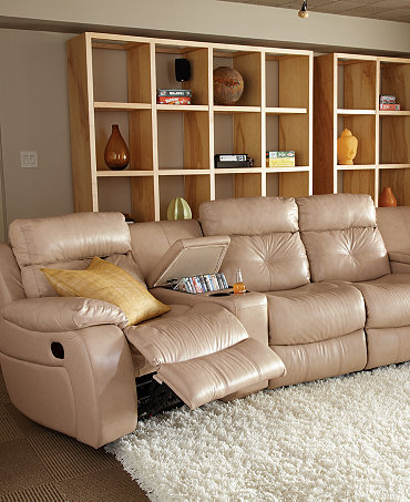Theater Sectional Reclining Sofa 12