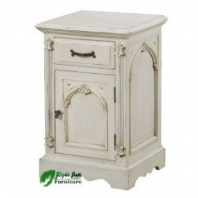 Victorian painted night stand noire black bedside furniture factory