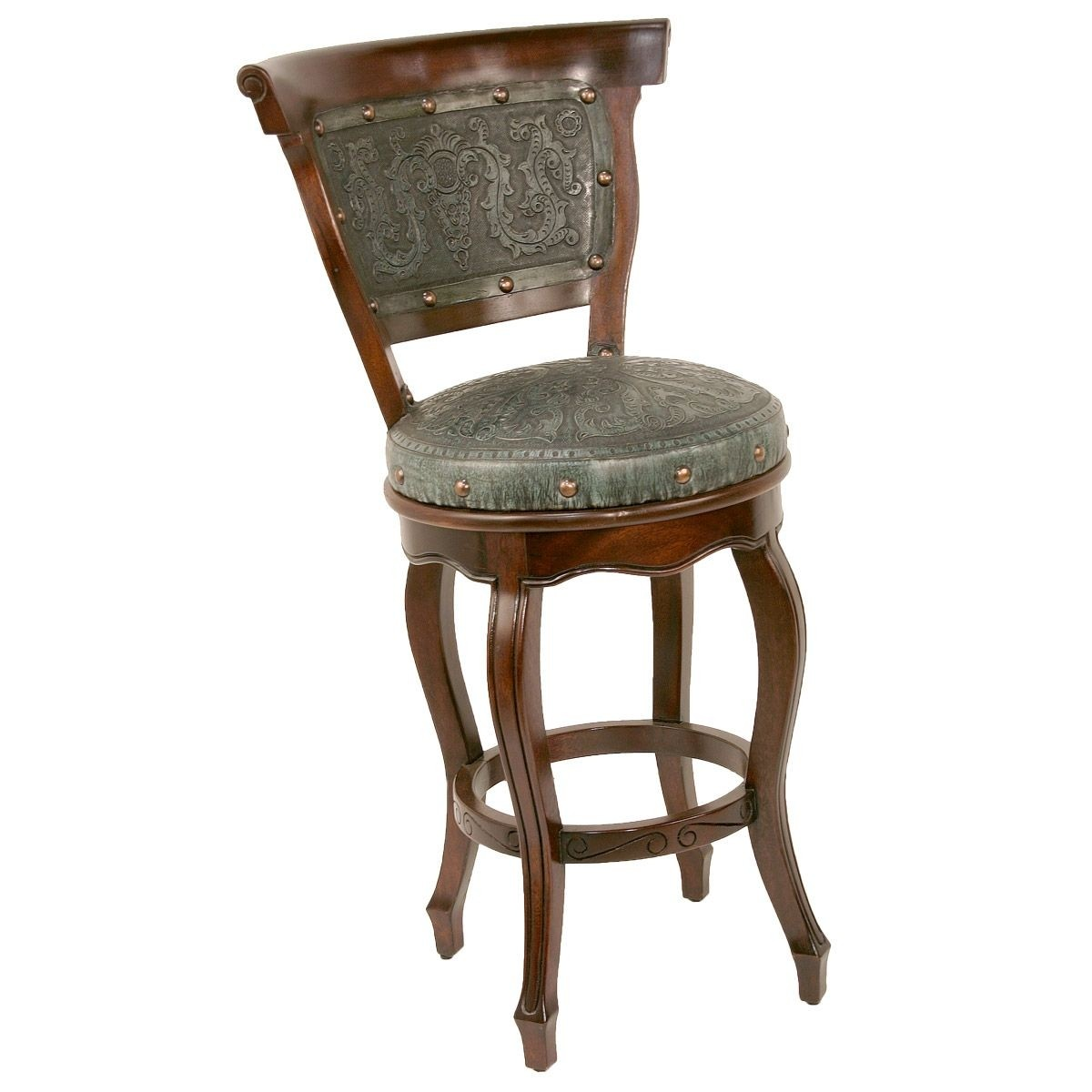 Western leather bar stools