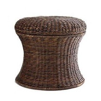 Wicker storage stool