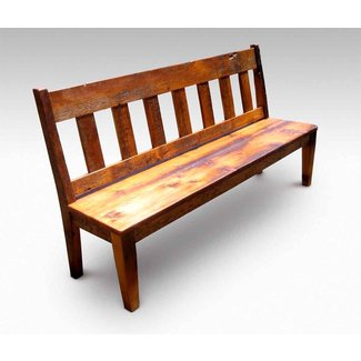 Wood Dining Bench With Back Ideas On