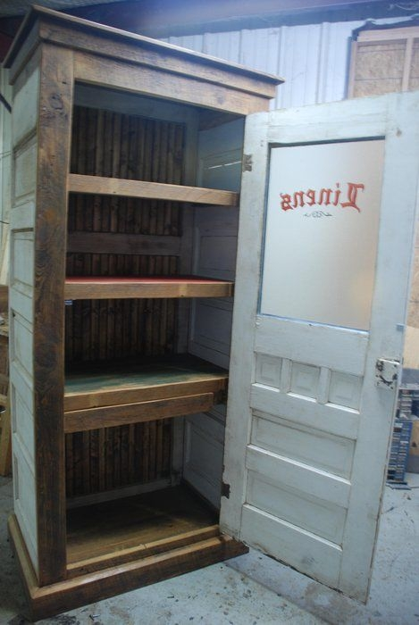 Elegant Wood Linen Cabinet