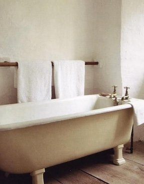 Wooden towel bars