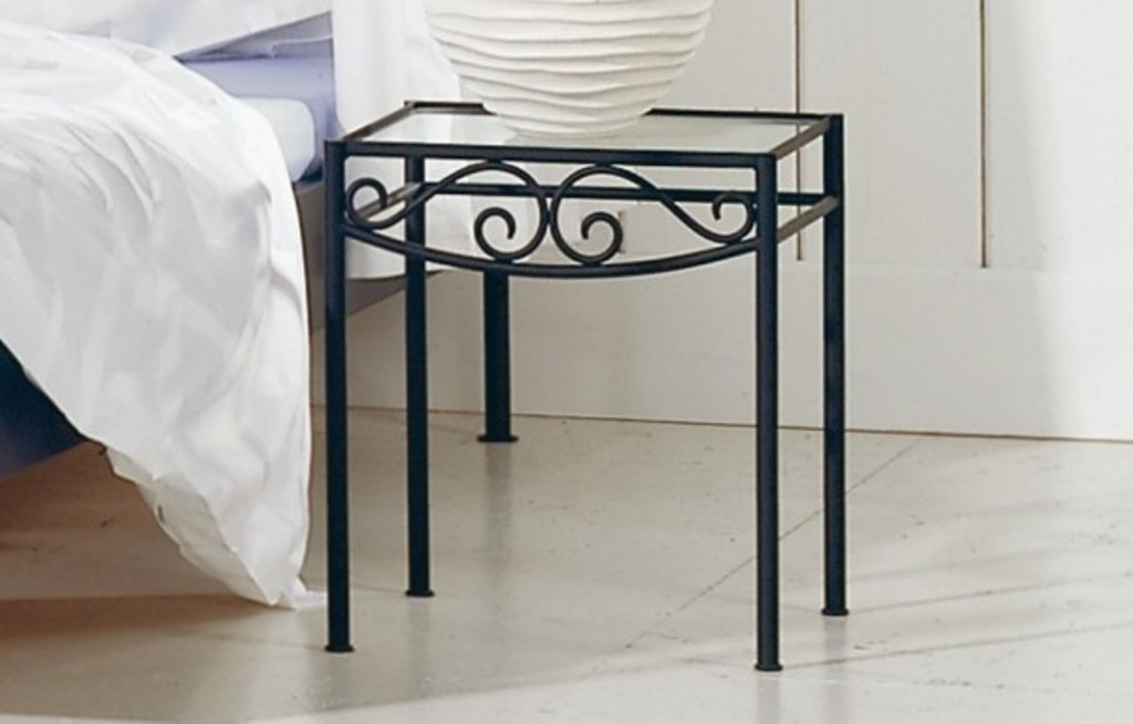 Wrought Iron Bedside Table 12
