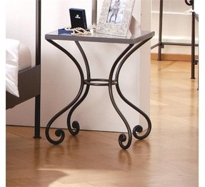 Wrought iron bedside table 2