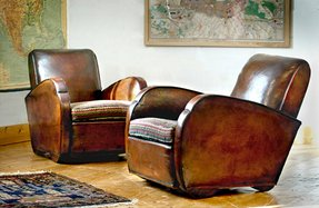 Leather Antique Arm Chairs - Foter