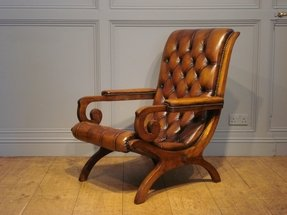 Antique leather chairs