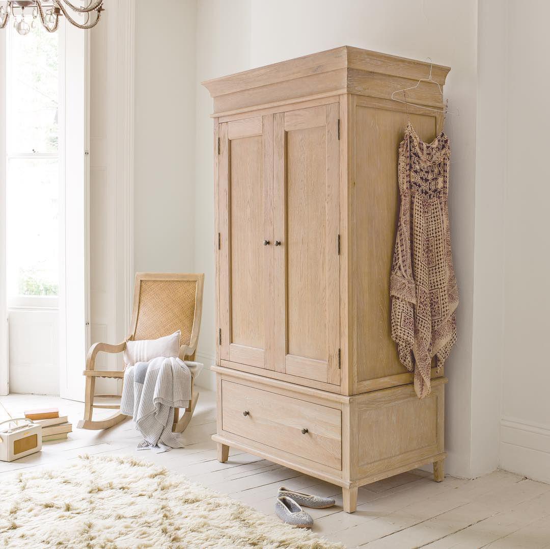 Antique Oak Armoire Wardrobe