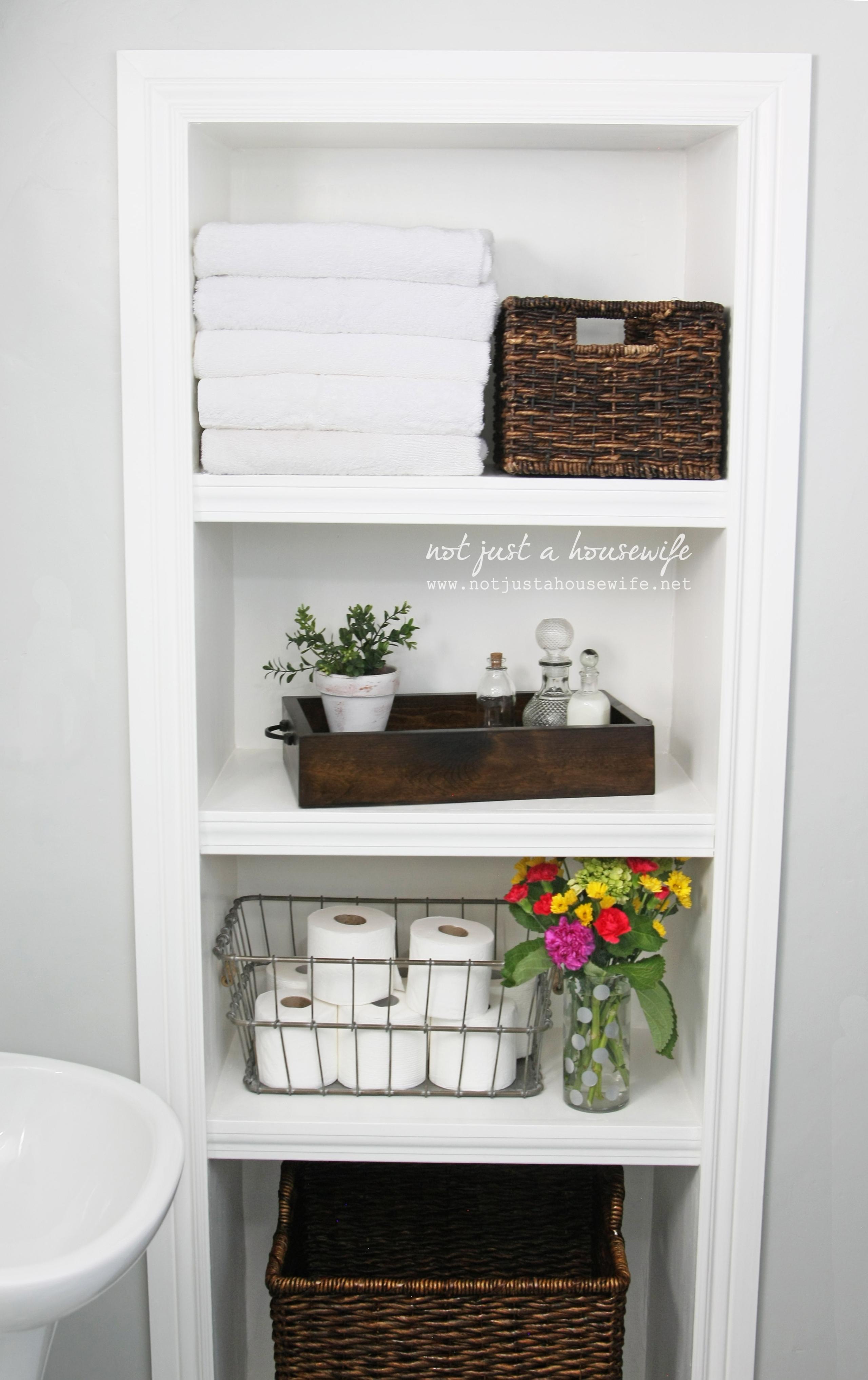 Gentil Bathroom Wall Storage Shelves