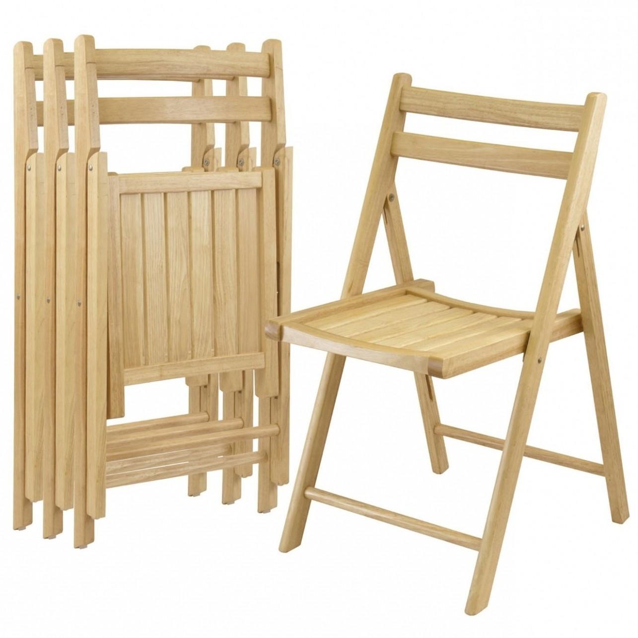 Beechwood Folding Chairs Set Of 4 Modern Chairs
