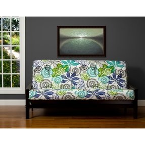 Block island green 7 inch full size futon cover