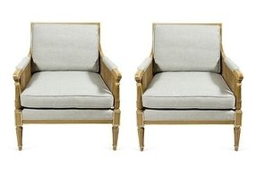 Cane armchairs 4