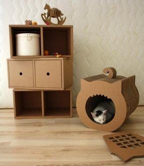 card board furniture. Cardboard Cat Furniture 5 Card Board