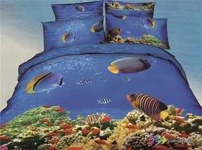 Cliab under the sea bedding ocean theme bedding fishing theme