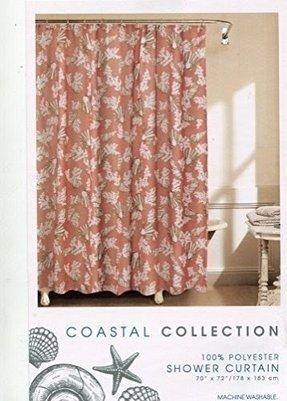 Coastal Collection C Seashell Fabric Shower Curtain