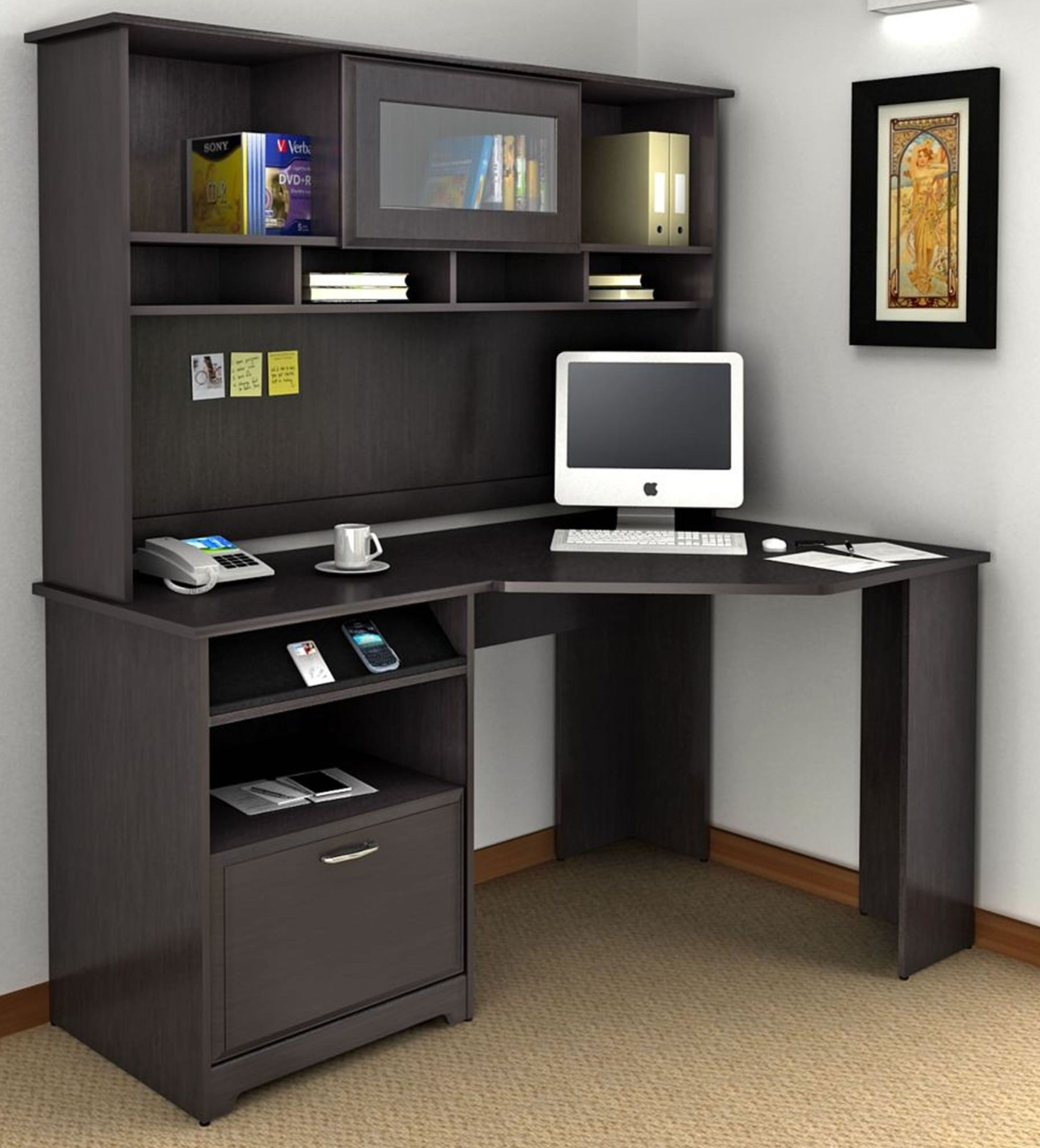 Good Corner Computer Desk With Hutch For Home