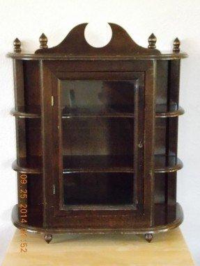 Bon Vintage Wall Curio Cabinet