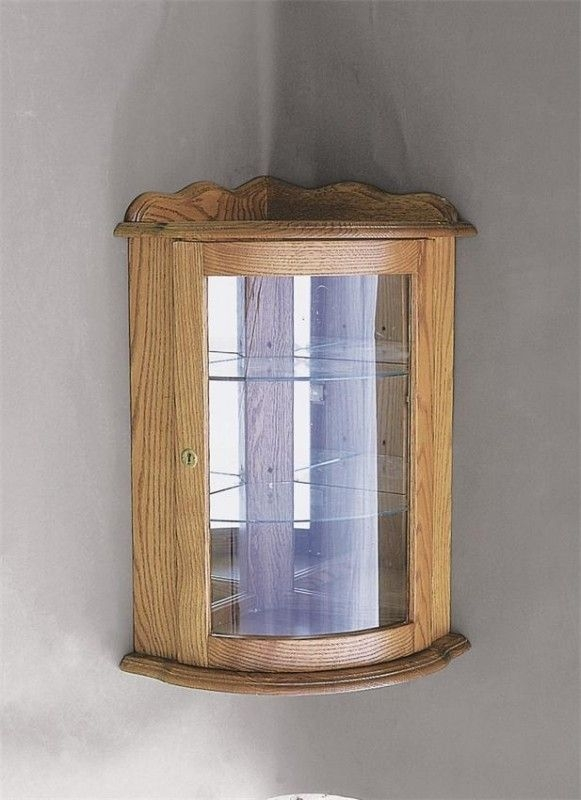 Corner Wall Curio Cabinet