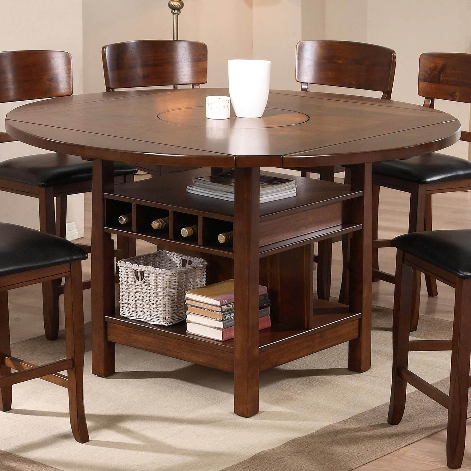 Charmant Counter Height Round Pub Table 8