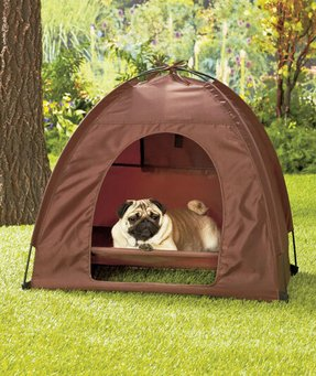 Dog pet bed tent dome covered house ventilation window foldable