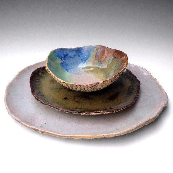 Elk dinnerware sets  sc 1 st  Foter & Rustic Stoneware Dinnerware - Foter